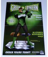 Green Lantern Hal Jordan DC Direct statue 17 by 11 DC Comics promo poste... - $40.00
