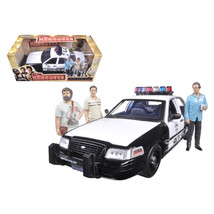 2000 Ford Crown Victoria Police Interceptor Car with 3 Figures The Hango... - $82.75
