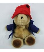 "Vtg 1981 Eden Toys Paddington Bear 9"" Plush Stuffed Animal Red Hat Blue ... - $9.75"