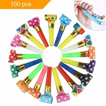 Koogel Party Whistles,100 Pcs Musical Blowouts, Birthday Party Favors, N... - $15.50
