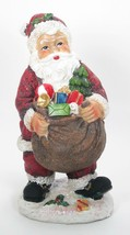"8.5"" Tradidtional Portly Santa Claus Figurine with Toy Sack Christmas Decor - $12.82"