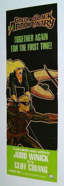 GREEN ARROW & BLACK CANARY DC COMICS PROMO POSTER BANNER