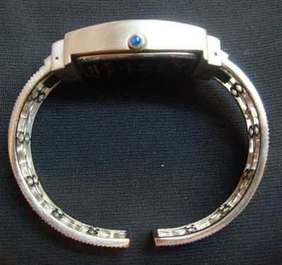BETTY BOOP 36 Crystals Blue Dial Quartz Barrel Dress Silver Watch with metal box