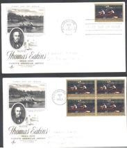 Thomas Eakins American Artist First Day Covers single & block of 4 Nov 2 1967 - $2.99