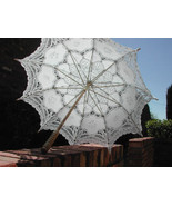 "White ""Victorian"" Parasol with lace - $37.00"