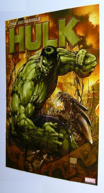 INCREDIBLE HULK MARVEL COMIC PROMO POSTER:MICHAEL TURNER ART