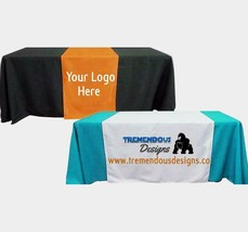 "Customize Table Runner with your logo or Design From 48""x72 to  48""x90""  Great f image 2"