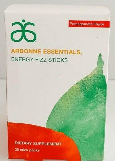 Arbonne Fizz Sticks | Pomegranate Flavor | Exp 4/2022 - 30 Sticks