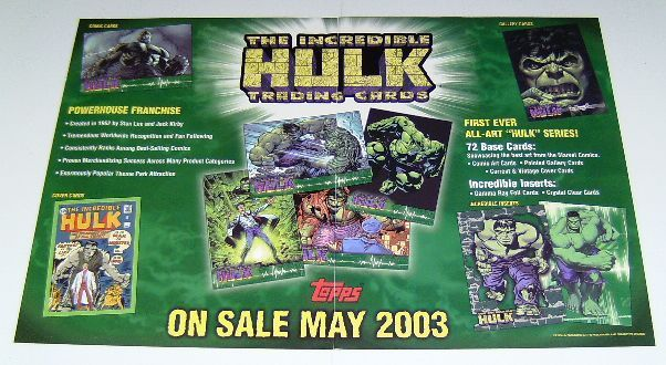 Hulk toppscardsflyerbrochure 2sided 2003 17by11b