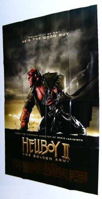 HUGE HELLBOY II GOLDEN ARMY COMIC BOOK MOVIE PROMO POSTER