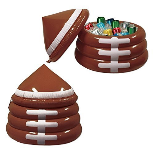 "Inflatable Football Game Novelty Day Cooler with Lid 23"" x 26"""