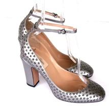 J-2875140 Valentino Garavani Silver Tango Pumps Shoes Size US 8.5 Marked... - $325.95