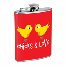 Chicks and Love Em1 Flask 8oz Stainless Steel Hip Drinking Whiskey - $279,96 MXN