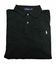 Polo Ralph Lauren Mens Big & Tall Pique Polo Shirt 3XLT Black Marl Heath... - $49.00