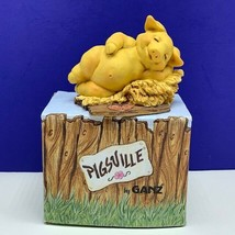Pigsville by Ganz pig figurine nib box 1995 vintage sculpture resin Hayloft vtg - $29.65