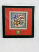 Commitment To Courage Firefighters Shadowbox Plate  Glen Green 2012 - $23.74
