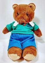 "Brown  Vintage Preppy Teddy Bear 14""  1986 LTD.Com Plush Stuffed Animal Toy - $34.64"