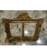 Vintage Picture Frame Two Sided Gold Tone Metal Fits Two 2 x 3 Pictures ... - $19.99