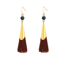 The Cats Pajama Annie Faux Suede Tassel Earrings - $38.00