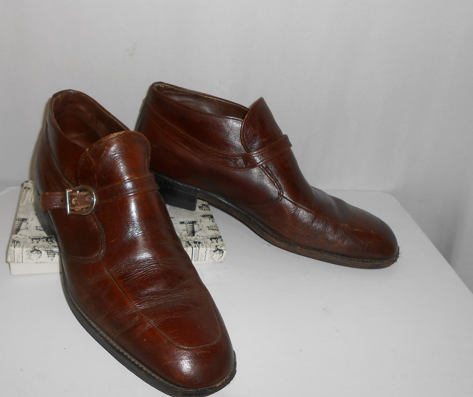 ac971e86d922 57. 57. Previous. Vintage Brown Leather Monk Strap Buckle Sears Easy Flex  Men Shoes Sz 10 D · Vintage Brown ...