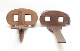 Pair of Antique Wood Viewer Stereoscope For Parts or Repair - $21.83