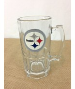 Pittsburg Steelers Huge 32 oz King Size Heavy Glass Beer Stein Mug - $19.80