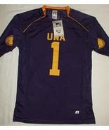 University North Alabama Jersey Una 1 Lions Purple Gold V-Neck T-shirt L... - $9.85