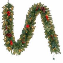 9 ft. Pre-Lit Winslow Fir Garland with Clear Lights Christmas Wreaths De... - $64.99