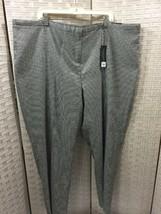Houndstooth Pants Black White Pants Lane Bryant Sz 28 Sophie Checks Straight New - $20.55