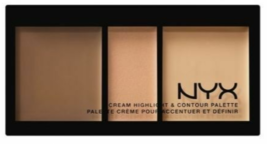 NYX Cream Highlight & Contour Palette - CHCP02 Medium  - $8.59