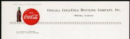 Vintage letterhead COCA COLA bottle and button Opelika Alabama unused n-... - $8.99