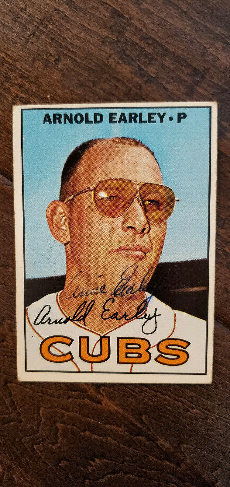 Primary image for 1967 TOPPS SIGNED AUTO ROOKIE CARD Arnold Earley Chicago Cubs Sox Astros