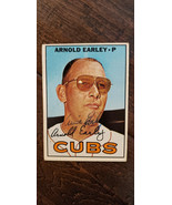 1967 TOPPS SIGNED AUTO ROOKIE CARD Arnold Earley Chicago Cubs Sox Astros - $35.02