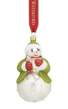 Waterford Holiday Heirlooms 2015 Lismore Leo Pearl Snowman Ornament New - $79.10