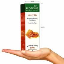 Biotique Bio Honey Gel Refreshing Foaming Face Cleanser 120ml pack Use b... - $9.49