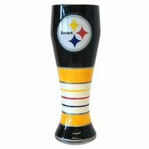 Pittsburgh Steelers NFL Hand Painted Artisan Pilsner Beer Glass 23 oz - $39.59