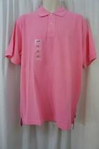 Izod Mens Casual Shirt Sz L Sachet Pink Solid Polo Signature Solid Cotton - $19.71