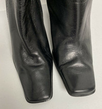 Nine West Danna women's black leather tall knee high heels boots size 6.5M - $29.59