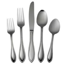 International Silver American Bead Stainless Steel Flatware, 53-Piece Se... - $55.06