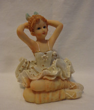 Dance Figurine 5 Sitting Dancer - $9.80