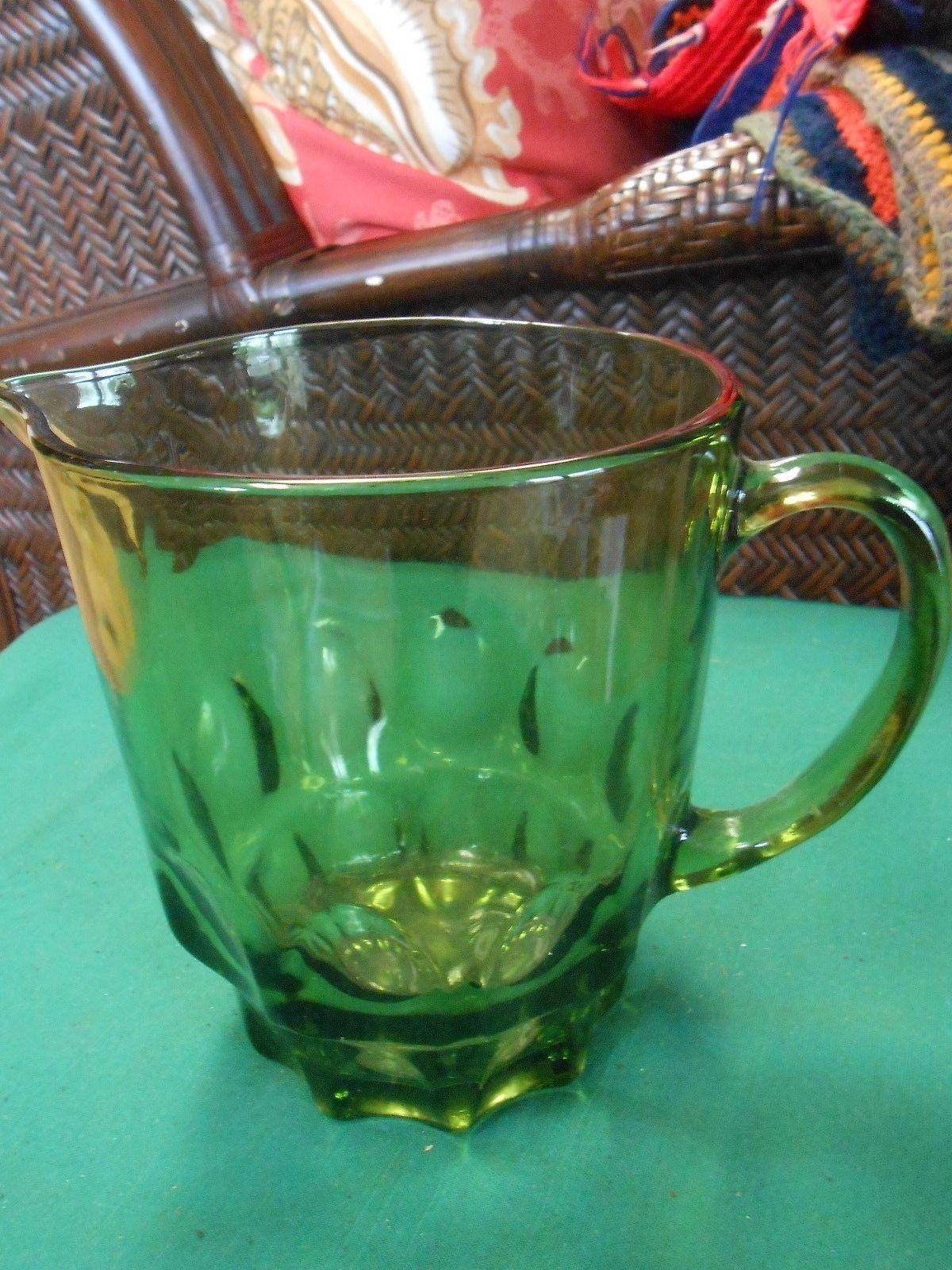 Primary image for Great HAZEL ATLAS Avocado Green Glass PITCHER