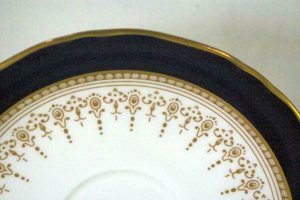 "Royal Worcester Regency Blue Bread Plate 6 1/8""  #21686"