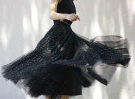 Black Tulle Party Skirt Women Tiered Layered Tulle Skirt Tulle Party Skirt Plus image 12