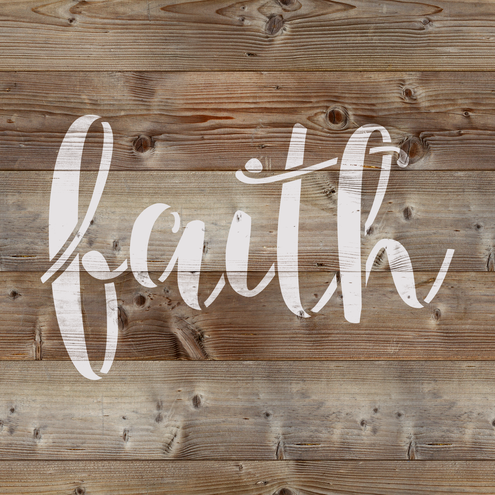 Faith Stencil - Reusable Stencils of Faith Sign in Multiple Sizes