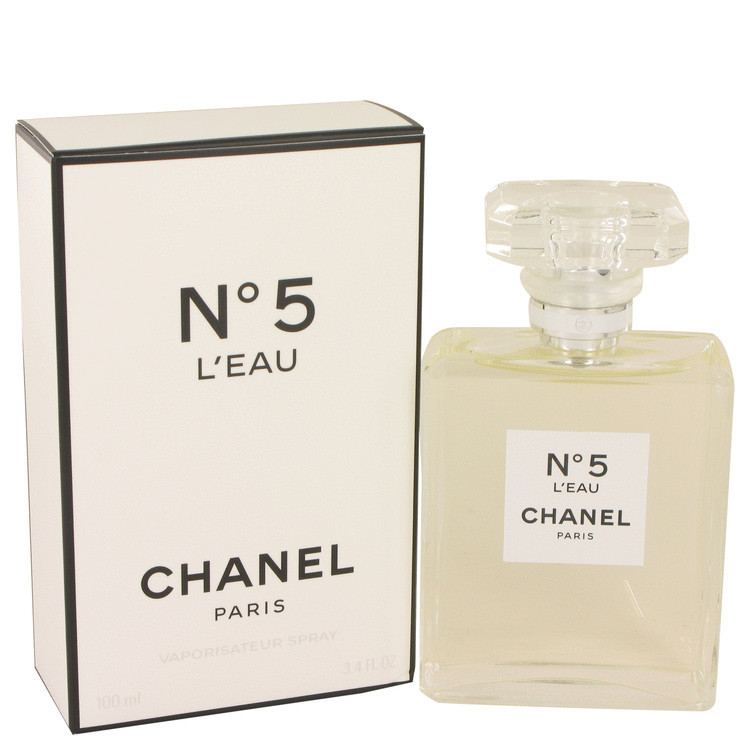 Chanel No. 5 L'Eau Perfume 3.4 oz. Eau De Toilette Spray New! Women's Fragrance