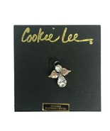 Cookie Lee Angel Hat Lapel Pin Genuine Austrian Crystal Goldtone Metal ... - $10.37