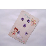 Vintage Luckyday Baby Purple Buttons Genuine MOP Original Card NOS 1930s - $8.00
