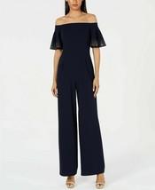 Calvin Klein Embellished Off The Shoulder Jumpsuit Indigo Size 6, 8 - $50.00+