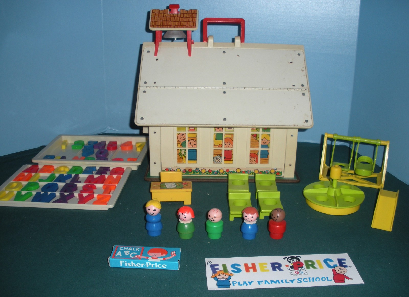 Primary image for Vintage Fisher Price Play Family #923 School 99.9% Complete/EXC--EXC++ (K)