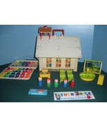 Vintage Fisher Price Play Family #923 School 99.9% Complete/EXC--EXC++ (K)  - $160.00